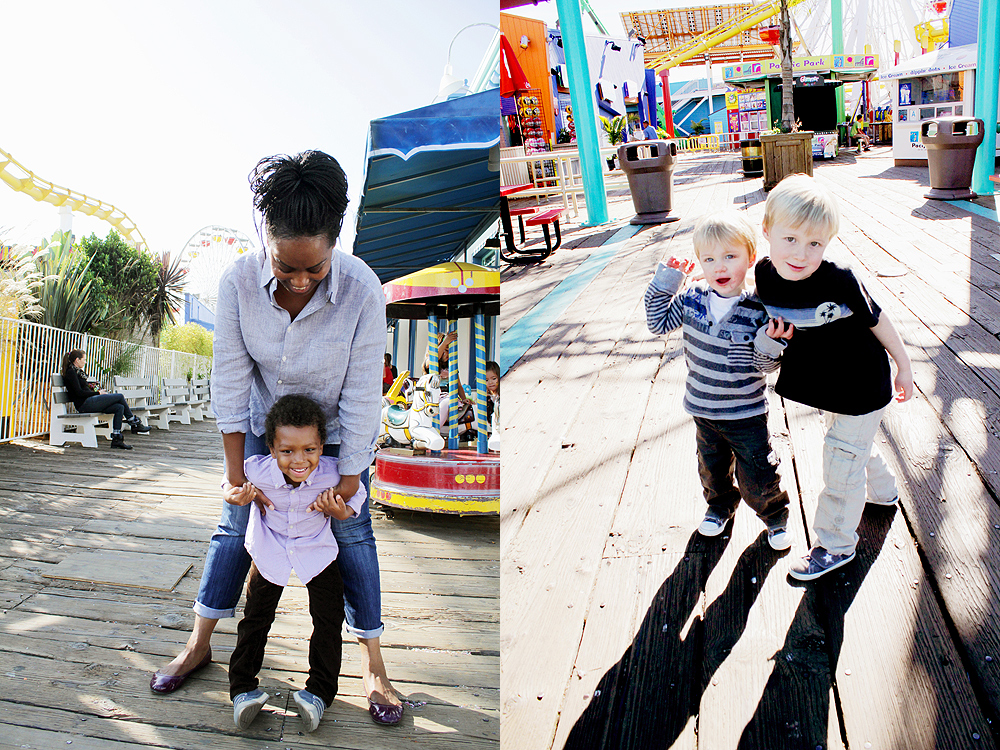 santa monica pier family photos
